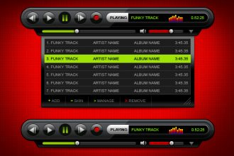 Elegant MP3 player skin PSD download