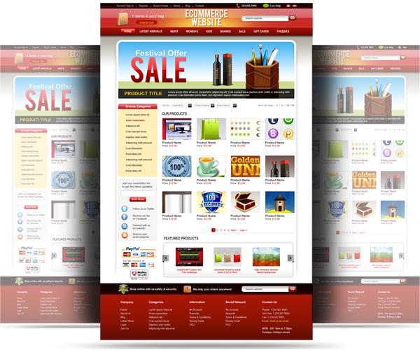 PSD ecommerce website template