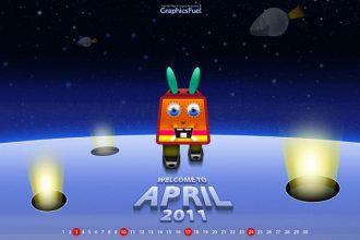 Wallpaper calendar: April 2011