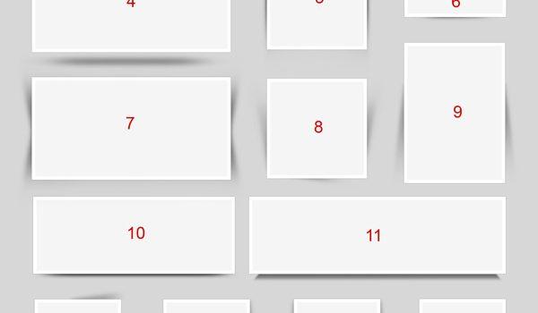 17 content box shadows (PSD)