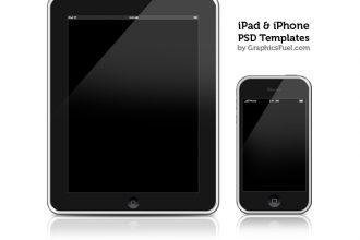 iPhone & iPad PSD templates & icons