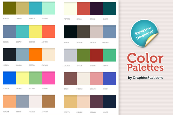 Excellent color palettes (PSD)