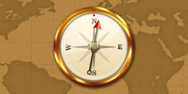 Compass icon (PSD)