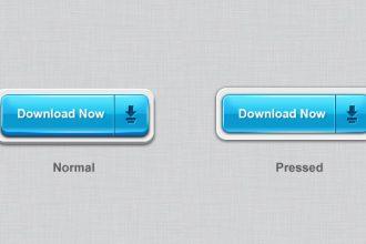 3D download buttons (PSD)