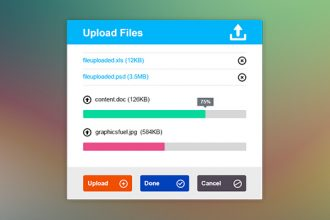 Upload File Interface PSD (Metro Style)