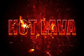 How to Create a Hot Lava Text Effect in Photoshop