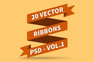 vector-ribbons-psd