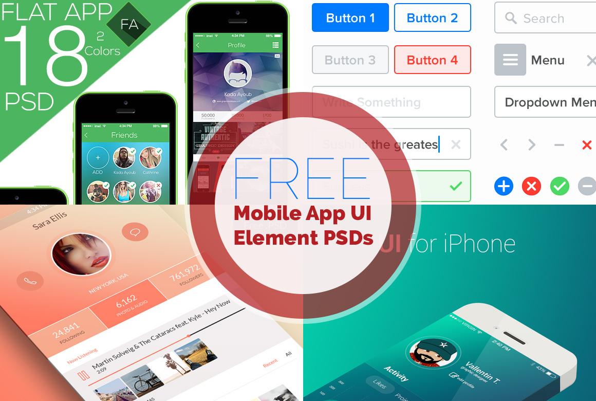 Free Mobile App UI PSD Files