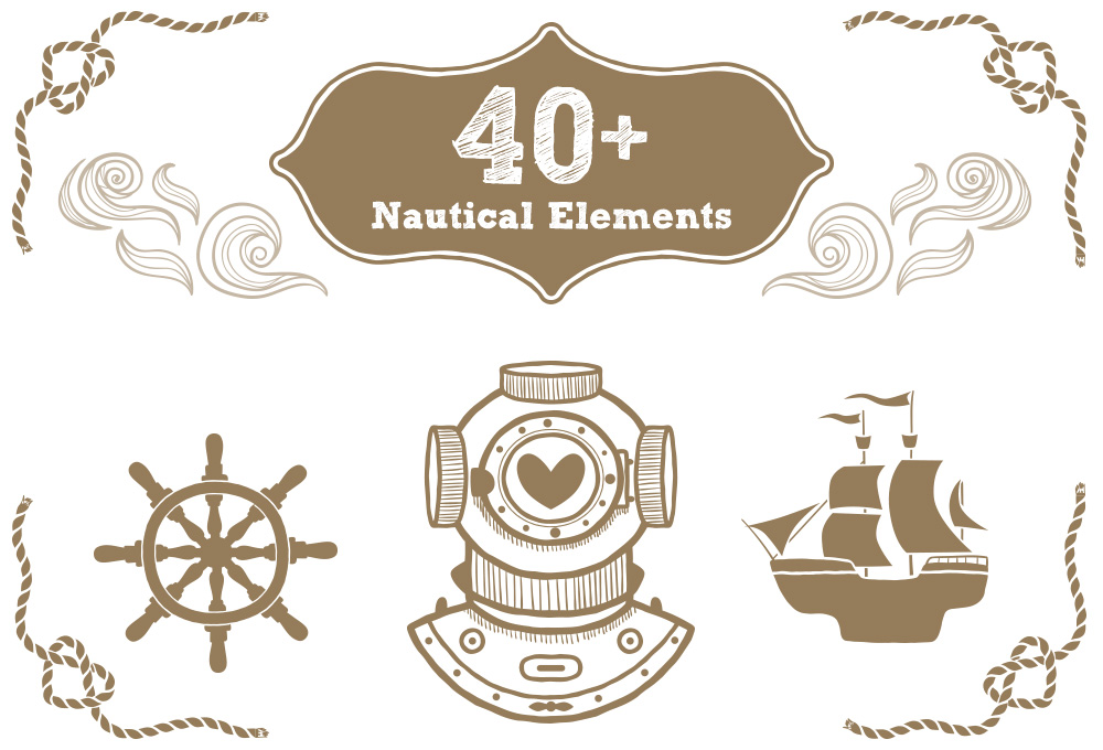 40+ Free Nautical Vector Elements