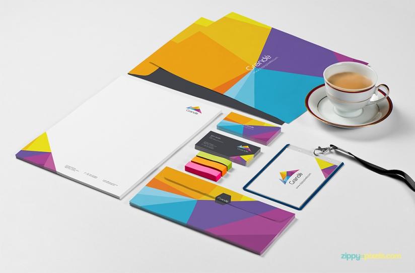 8 Stationery Branding PSD Mockups
