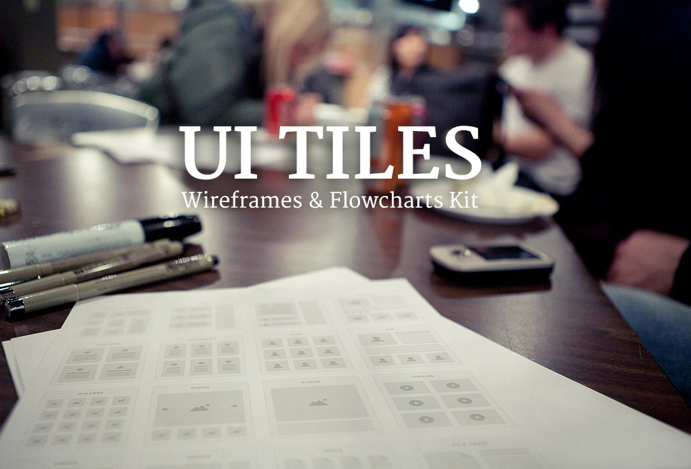 UI Tiles: Wireframes and Flowcharts Kit