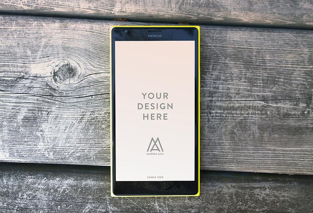Nokia Lumia 1520 PSD Mockups