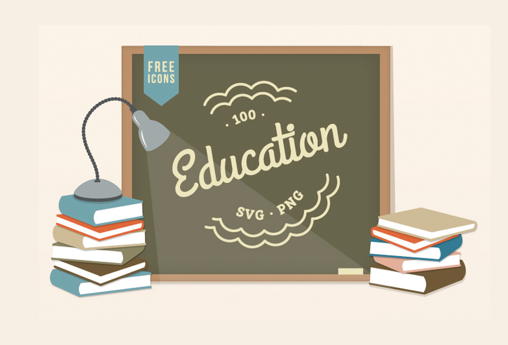 Exclusive: 100 Free Education Icons