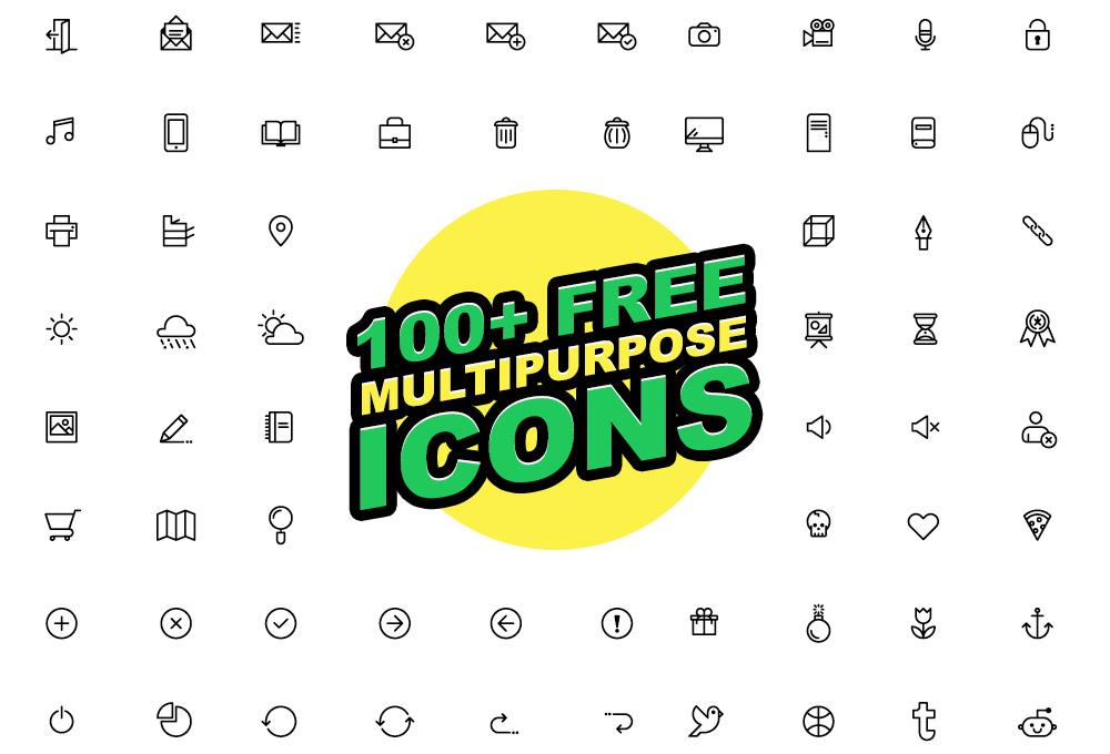 100+ Free Multipurpose Vector Icons