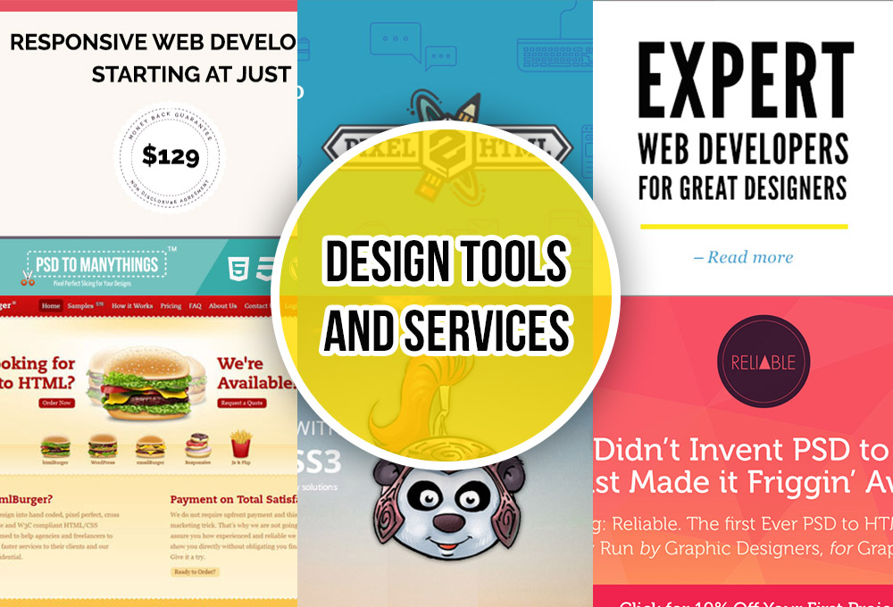 Services and Tools That Will Slice And Code Your Designs