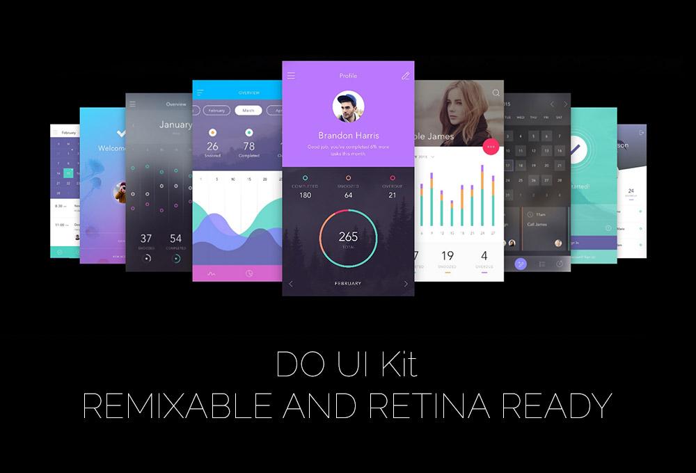 DO: Free App UI Kit for Photoshop & Sketch