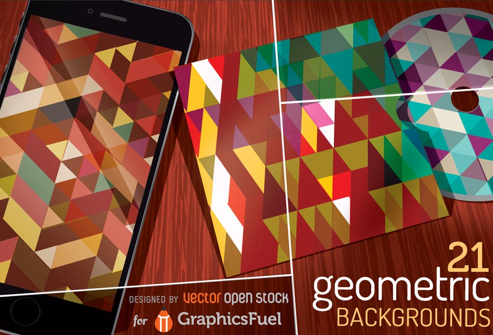 21 Free Vector Geometric Backgrounds