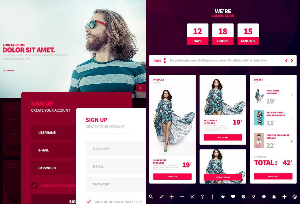 Free Web & Mobile PSD UI Kit