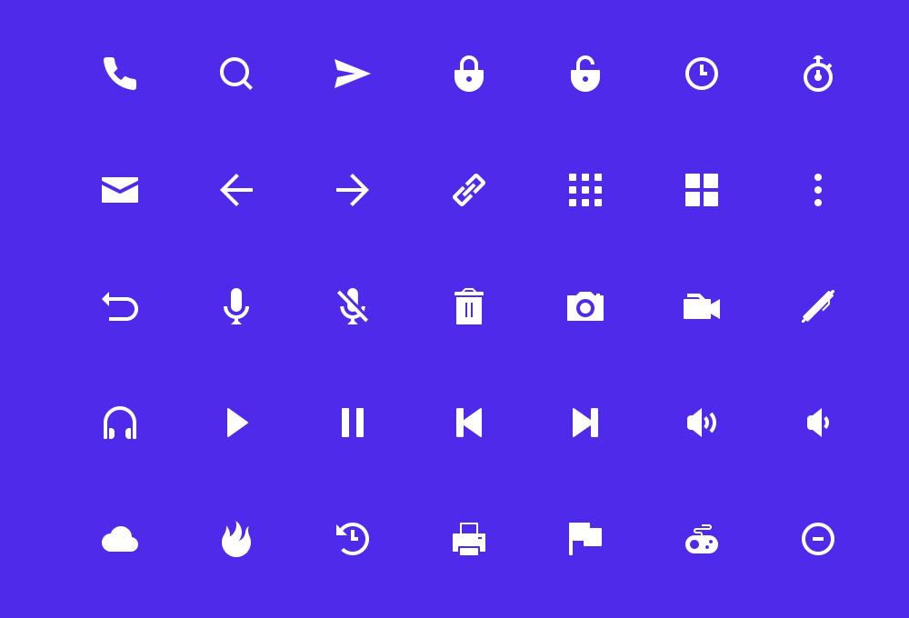 Geoph: 80 Free UI icons
