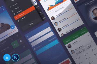 Free Mobile UI Kit PSD