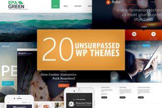 20 Unsurpassed WordPress Themes