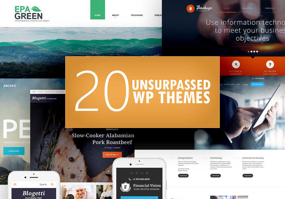 20 Unsurpassed WordPress Themes
