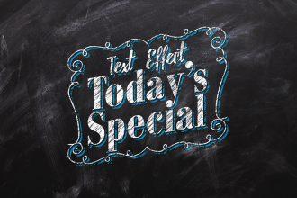 Chalkboard Text Effect PSD
