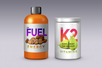 Supplement Product Packaging Mockup Templates