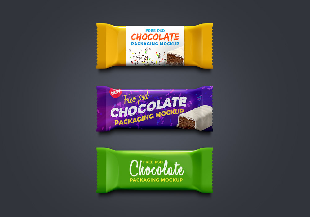 Chocolate Packaging Mockup PSD