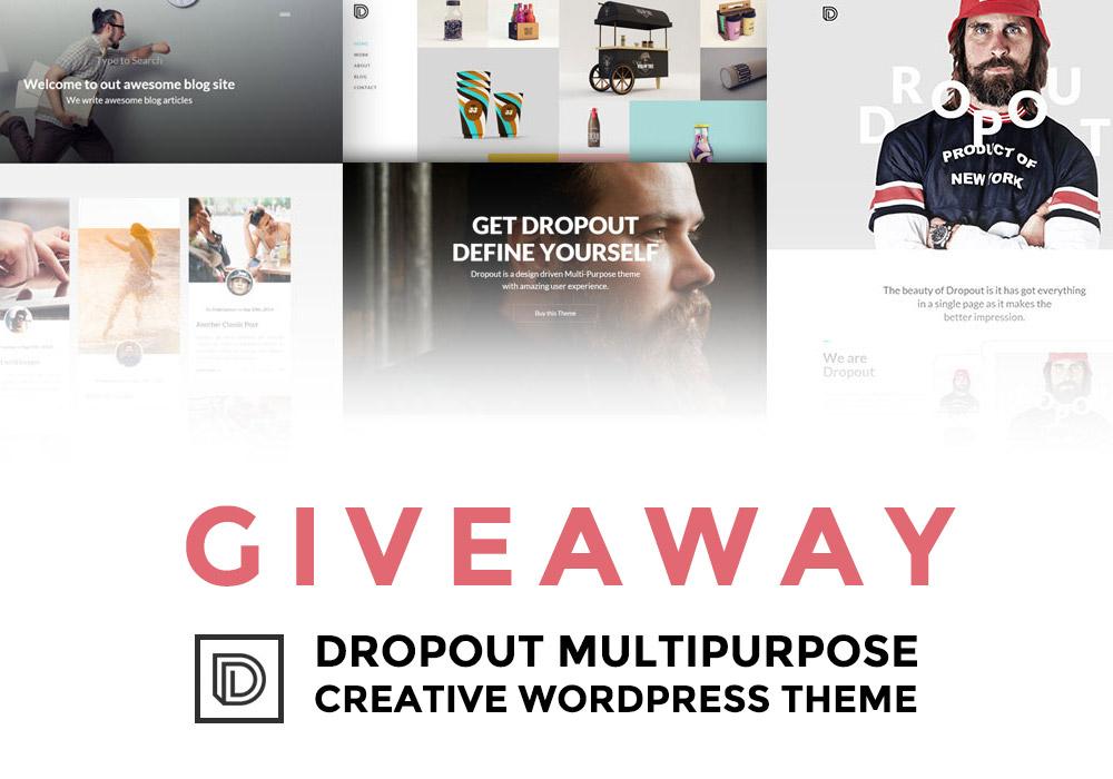 Giveaway: Win 3 Copies of Dropout WordPress Multi-Purpose Theme