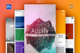 Appify: Free Mobile App UI Kit Vol.1