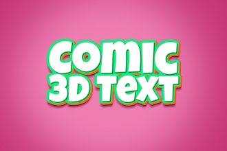 3D Comic Text Effect PSD