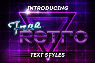 Retro PSD Text Styles
