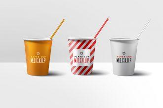 Paper Cup Mockup PSD