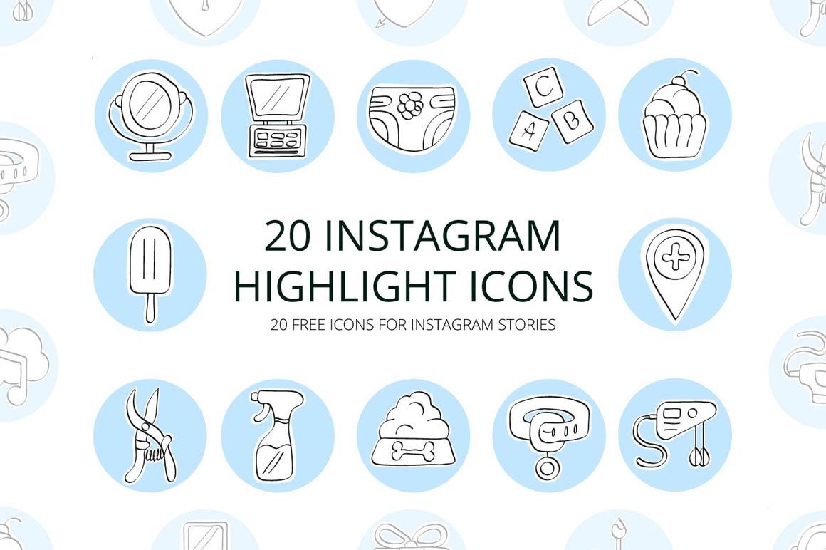 20 Instagram Highlight Icons