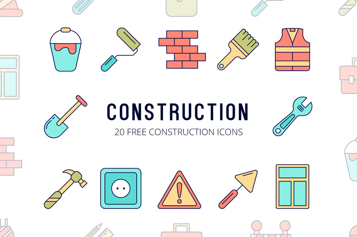 Construction Vector Free Icon Set