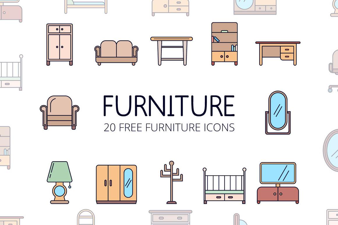 Furniture Vector Free Icon Set