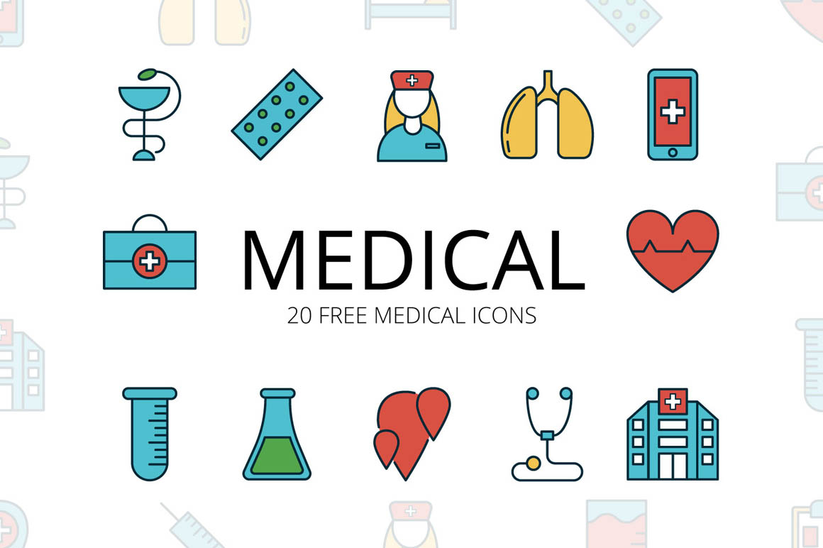 Medical Vector Free Icon Set