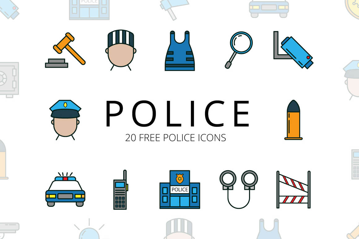 Police Vector Free Icon Set
