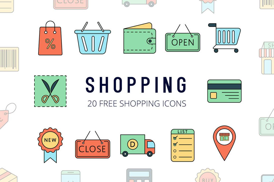 Shopping Vector Free Icon Set