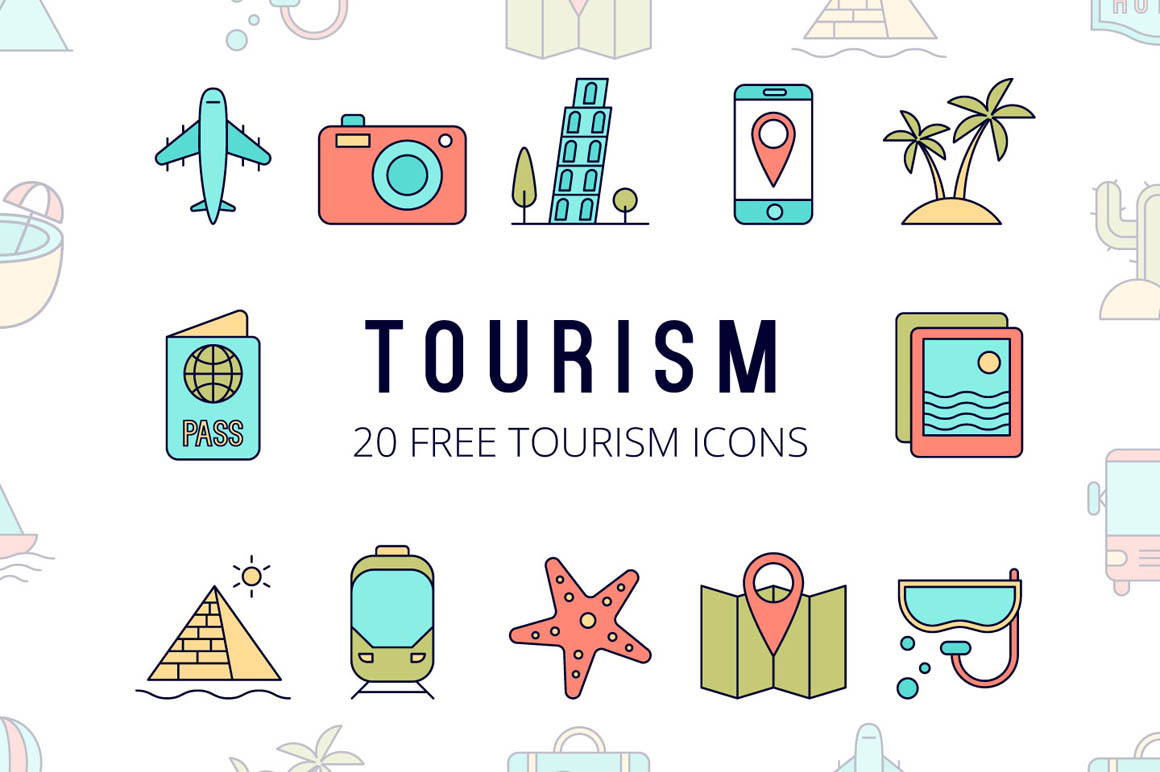 Tourism Vector Free Icon Set